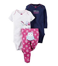 Carter's® Baby Girls' 3-Piece Owl Set
