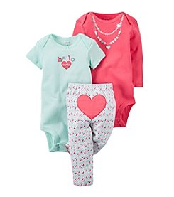 Carter's® Baby Girls' 3-Piece Geo Heart Set
