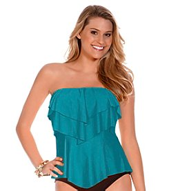 ECO SWIM by AquaGreen® Layered Ruffle Bandeaukini Top
