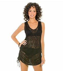 ECO SWIM by AquaGreen® Shirred Side Crochet Swimdress