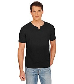 Lucky Brand® Men's Short Sleeve Notch Neck Solid Tee