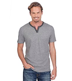 Lucky Brand® Men's Short Sleeve Heather Grey Notch Tee