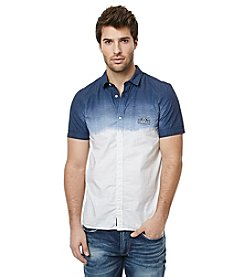 Buffalo by David Bitton Men's Short Sleeve Chambray Woven Button Down Shirt