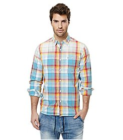 Buffalo by David Bitton Men's Sijax Long Sleeve Plaid Button Down Shirt
