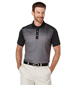 PGA TOUR® Men's Printed Fading Plaid Short Sleeve Polo