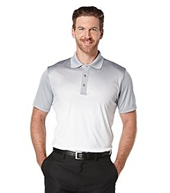 PGA TOUR® Men's Embossed Ombre Print Short Sleeve Polo