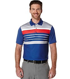 PGA TOUR® Men's Heather Stripe Short Sleeve Polo