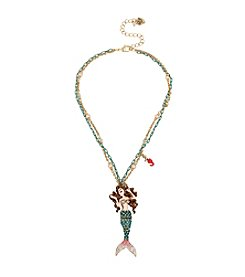 Betsey Johnson Goldtone Mermaid Pendant Necklace