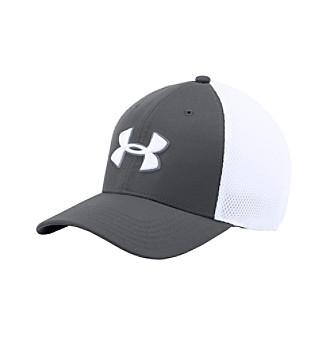 Under Armour Men's UA Golf Mesh Stretch 2.0 Cap - Black/White - M/L