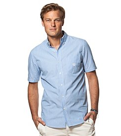 Chaps® Men's Short Sleeve Easy-Care Woven Button Down Shirt