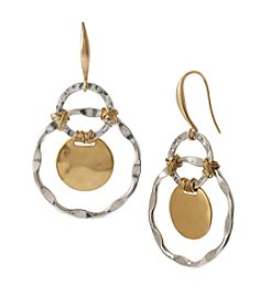 Robert Lee Morris Soho™ Two-Tone Wire Wrapped Orbital Circle Drop Earring