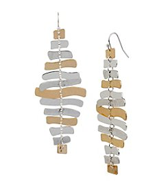 Robert Lee Morris Soho™ Two-Tone Sculptural Bead Chandelier Earrings