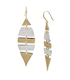 Robert Lee Morris Soho™ Hammered Texture Two-Tone Shaky Geometric Drop Earring