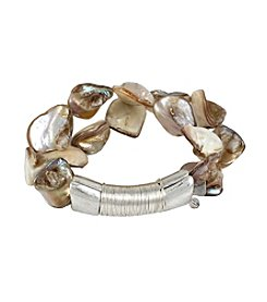 Robert Lee Morris Soho™ Shell Stone 2 Row Stretch Bracelet