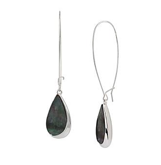Robert Lee Morris Soho™ Teardrop Stone Long Drop Earrings