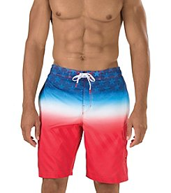 Speedo® Men's Flag Fade E-Boardshorts
