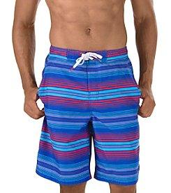 Speedo® Men's Straight Away Stripe E-Boardshorts