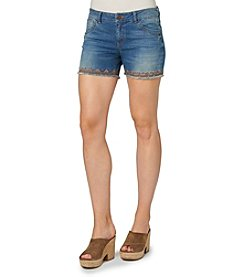 Democracy Boho Ribbon Trim Shorts