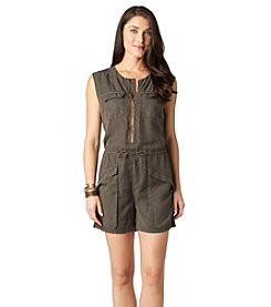 Democracy Front Zip Utility Romper