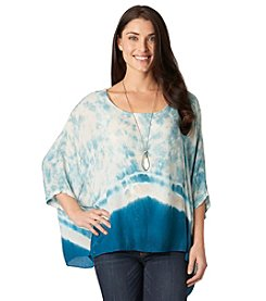 Democracy Splatter Dye Poncho