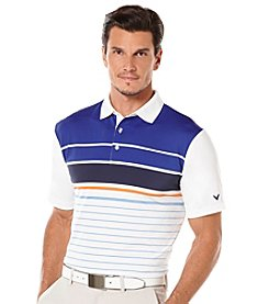 Callaway® Men's Engineer Striped Short Sleeve Polo