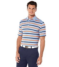 Callaway® Men's Heathered Striped Short Sleeve Polo