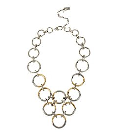 Kenneth Cole® Two Tone Ombre Circle Link Frontal Necklace
