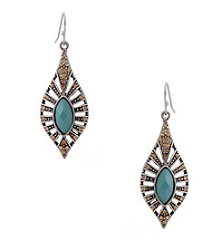 Erica Lyons® Silvertone Southwest Spirit Drop Pierced Earrings