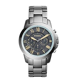 Fossil® Men's Grant Watch In Smoketone With Metal Bracelet And Grey Dial