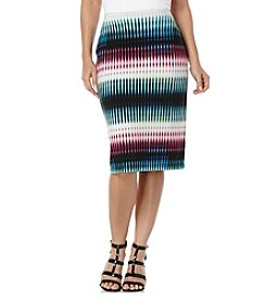 Rafaella® Kaliedoscope Stripe Print Tube Skirt