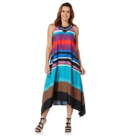Rafaella® Jungle Tie-Dye Stripe Dress