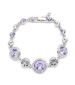 Givenchy® Silvertone Violet Bracelet