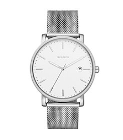 Skagen Denmark® Men's Hagen In Silvertone With Mesh Bracelet