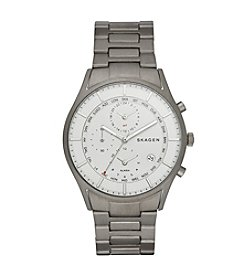 Skagen Men's Holst World Time Watch in Titanium with Link Bracelet