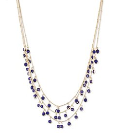 Anne Klein® Goldtone Cobalt Shaky Necklace