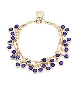 Anne Klein® Goldtone Cobalt Shaky Bracelet