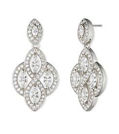 Anne Klein® Silvertone Chandelier Earrings