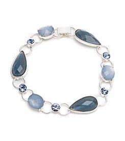 Anne Klein® Silvertone Blue Flex Bracelet