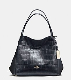 COACH EDIE SHOULDER BAG 31 IN CROC EMBOSSED LEATHER