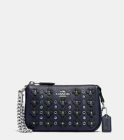 COACH NOLITA WRISTLET 15 IN FLORAL RIVETS LEATHER
