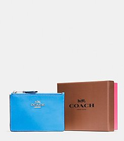 COACH BOXED MINI SKINNY ID CASE IN SMOOTH LEATHER