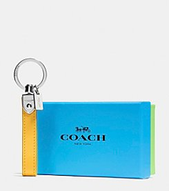 COACH BOXED LEATHER LOOP KEY RING
