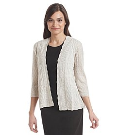 Notations® Petites' Pointelle Shrug Cardigan
