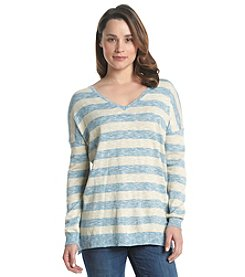 G.H. Bass & Co. Striped V-Neck Sweater