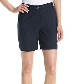 Rafaella® Solid Curvy Shorts