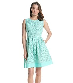 Jessica Howard® Pintuck Fit And Flare Lace Dress