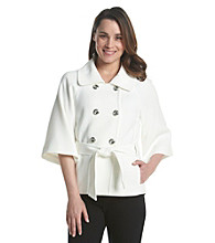 Tahari ASL® Double Breasted Belted Jacket