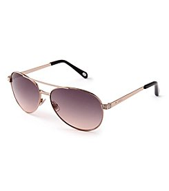 Fossil® Crystal Encrusted Aviator Sunglasses