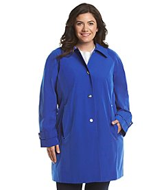 London Fog® Plus Size Hooded Balmacan Walker Jacket