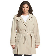 London Fog® Plus Size Belted Trench Coat